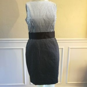 Nwt ann Taylor black and white sheath dress